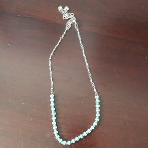Brighton Turquoise bead and silver necklace